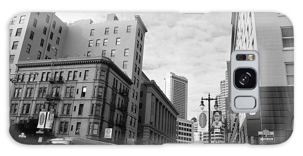 San Francisco - Jessie Street View - Black And White Galaxy Case by Matt Harang