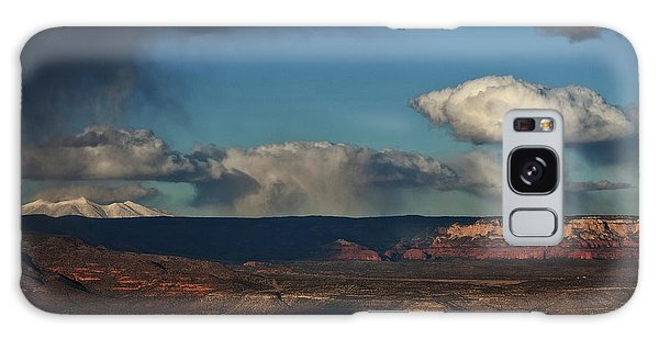 San Francisco Peaks With Snow And Clouds Galaxy Case