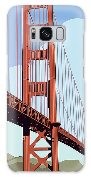 Galaxy Case featuring the digital art San Francisco Poster  by John Dyess