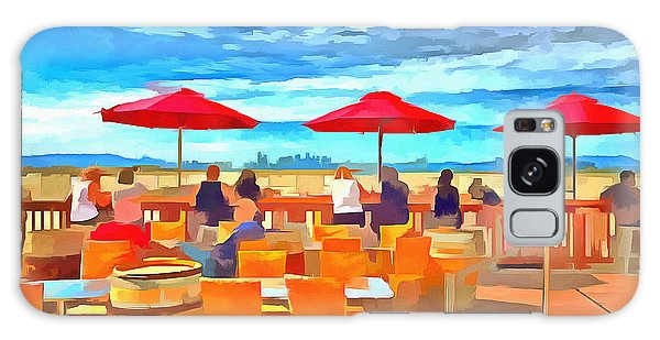San Francisco Skyline From Alameda  Galaxy Case by Linda Weinstock