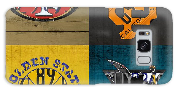Recycle Galaxy Case - San Francisco Sports Fan Recycled Vintage California License Plate Art 49ers Giants Warriors Sharks by Design Turnpike