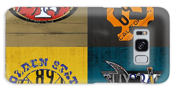 Hockey Galaxy Case - San Francisco Sports Fan Recycled Vintage California License Plate Art 49ers Giants Warriors Sharks by Design Turnpike