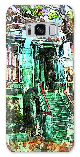 San Francisco Victorian Galaxy Case by Joan Reese