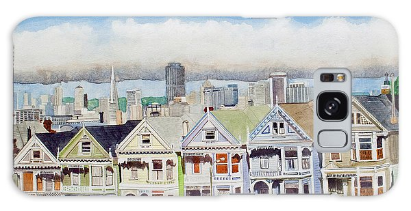 San Francisco's Painted Ladies Galaxy Case by Mike Robles