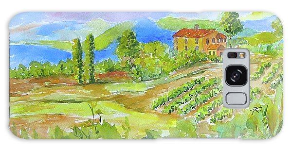 Vineyard At San Gimignano Galaxy Case