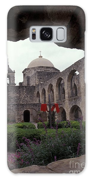San Jose Mission Courtyard San Antonio Texas  Galaxy Case