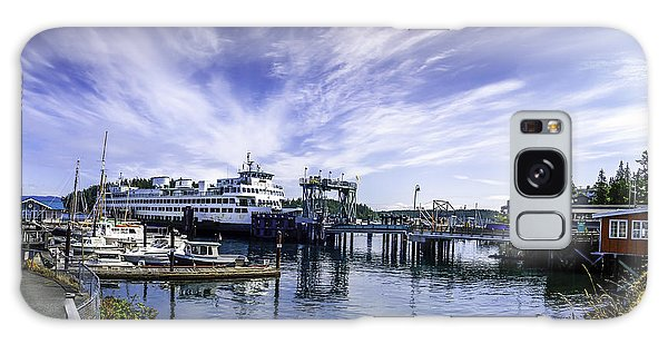 San Juan Island Ferry Galaxy Case by Gordon Engebretson