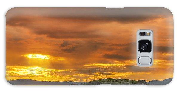 San Juan Islands Golden Hour Galaxy Case