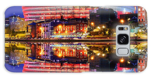 San Mames Stadium At Night With Water Reflections Galaxy Case
