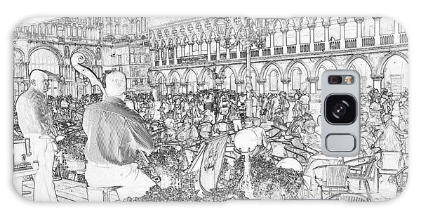 Galaxy Case - San Marco Square Concert Pen And Ink 4452 by Bob Neiman