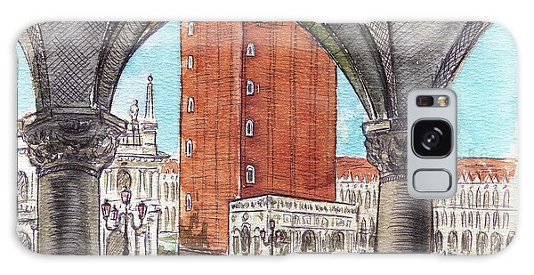 Galaxy Case featuring the painting San Marcos Square Venice Italy by Irina Sztukowski