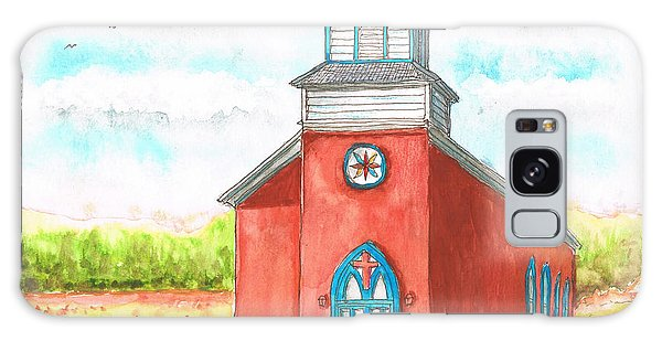 San Rafael Church In La Cueva, New Mexico Galaxy Case by Carlos G Groppa