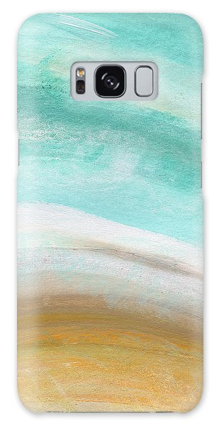 Sand And Saltwater- Abstract Art By Linda Woods Galaxy Case