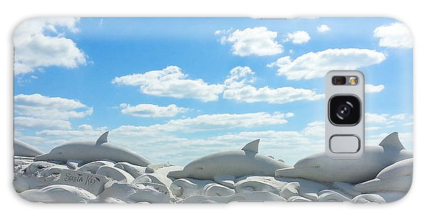 Sand Dolphins At Siesta Key Beach Galaxy Case