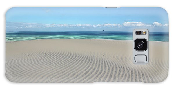 Sand Dune Ripples And The Ocean Beyond Galaxy Case