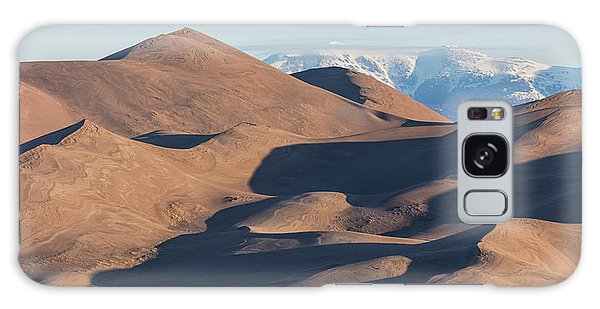 Sand Dunes And Rocky Mountains Panorama Galaxy Case by James BO Insogna