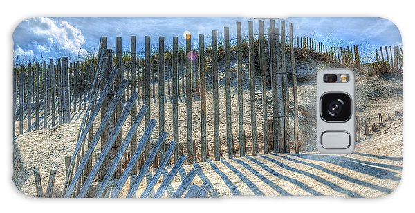 Sand Fence Galaxy Case by Greg Reed