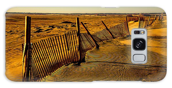 Sand Fences At Lands End II Galaxy Case by John Harding
