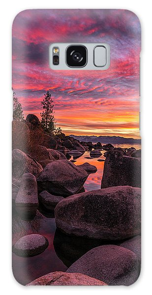 Sand Harbor Beach Galaxy Case