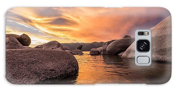 Sand Harbor Rocks Galaxy Case