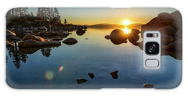 Lake Galaxy Case - Sand Harbor Sunset by Jamie Pham