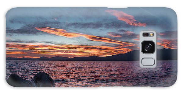 Sand Harbor Sunset Pano2 Galaxy Case