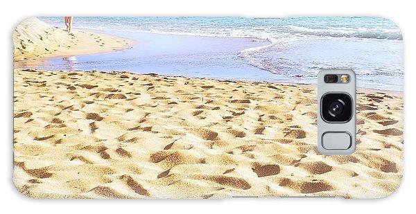 Sand Sea And Shadows Galaxy Case
