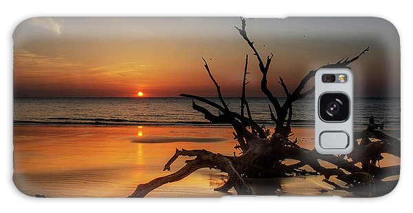 Sand Surf And Driftwood Galaxy Case