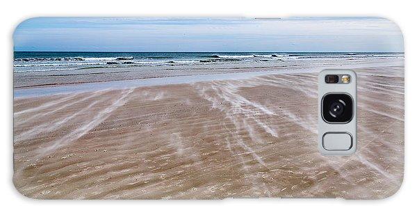 Sand Swirls On The Beach Galaxy Case by John M Bailey
