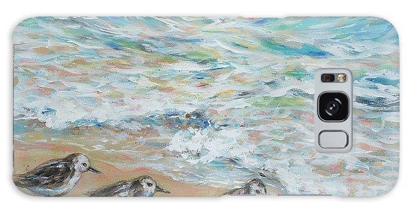 Sanderlings Running Galaxy Case