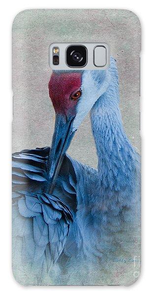 Sandhill Crane Galaxy Case by Betty LaRue