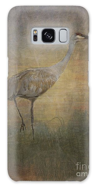 Sandhill Crane Watercolor Galaxy Case