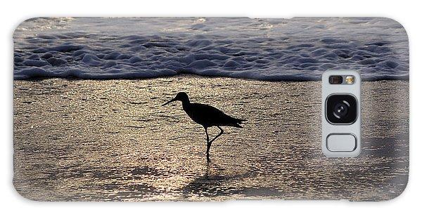 Sandpiper On A Golden Beach Galaxy Case by Kenneth Albin