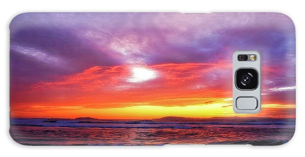 Sandpiper Sunset Ventura California Galaxy Case