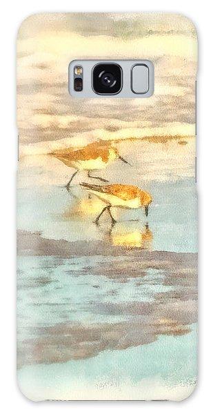 Sandpipers Along The Shoreline Galaxy Case