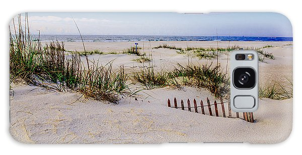 Sand  Fences On The Bogue Banks 2 Galaxy Case