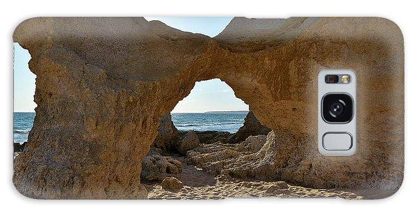 Sandstone Arch In Gale Beach. Algarve Galaxy Case