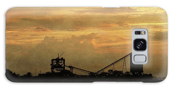 Sandusky Coal Dock Sunset Galaxy Case