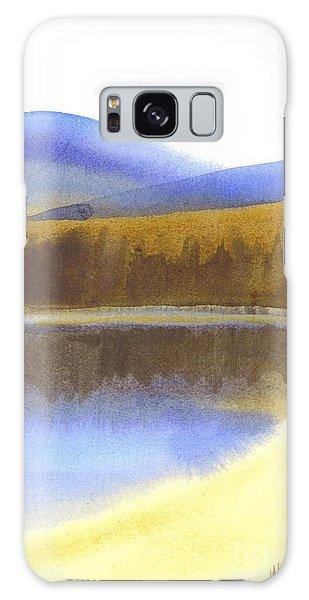 Sandy Blue Dusky Mountain Lake Galaxy Case by Kip DeVore