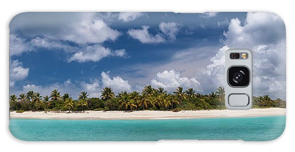 Galaxy Case featuring the photograph Sandy Cay Beach British Virgin Islands Panoramic by Adam Romanowicz
