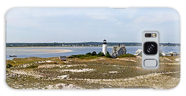 Sandy Neck Lighthouse With Fishing Boat Galaxy Case