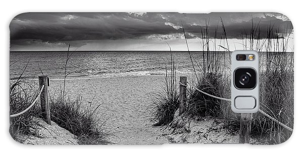 Sanibel Island Beach Access In Black And White Galaxy Case