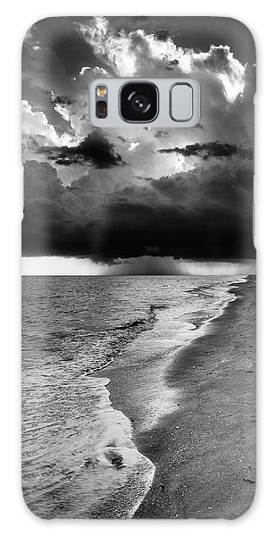 Sanibel Island Rain In Black And White Galaxy Case