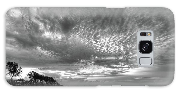 Sanibel Island Sunrise In Black And White Galaxy Case