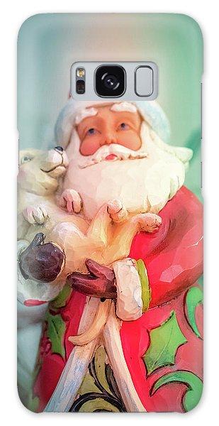 Santa And Lab Pup Galaxy Case