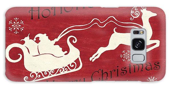 Santa Claus Galaxy Case - Santa And Reindeer Sleigh by Debbie DeWitt