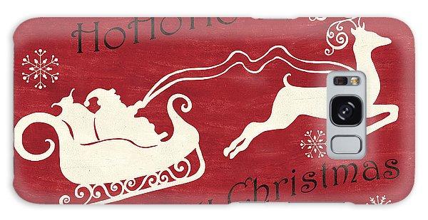 Antlers Galaxy Case - Santa And Reindeer Sleigh by Debbie DeWitt