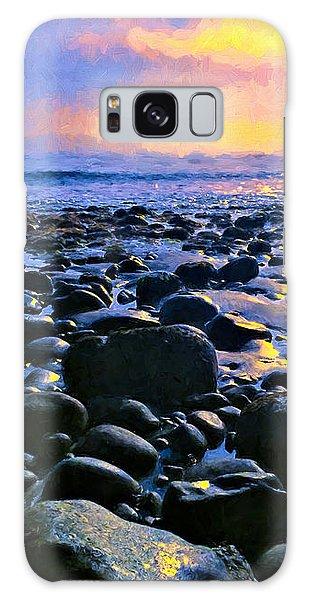 Santa Barbara Beach Sunset California Galaxy Case