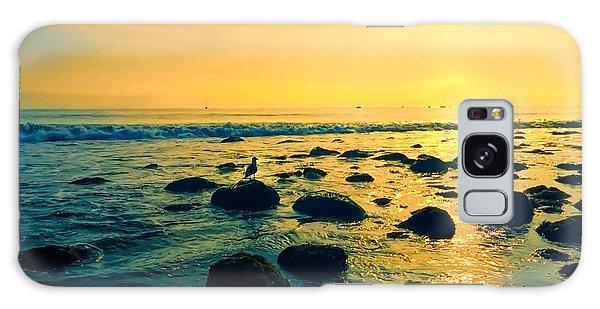 Santa Barbara California Ocean Sunset Galaxy Case