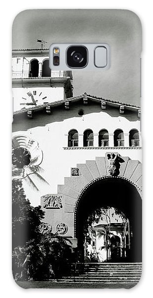 Santa Barbara Courthouse Black And White-by Linda Woods Galaxy Case by Linda Woods